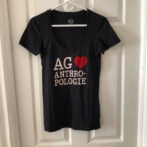 AG Anthropologie Black T-shirt